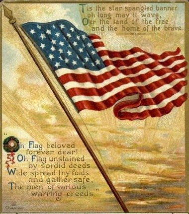 star spangled banner Happy Independence Day America