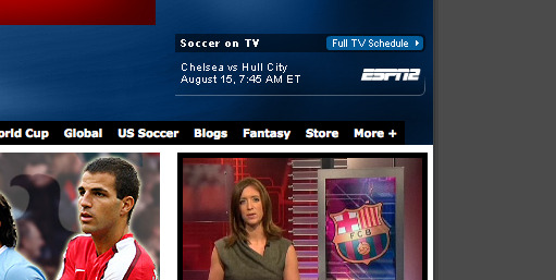 espn2 chelsea hull city soccernet ESPN Adds Premier League To Soccer Line Up