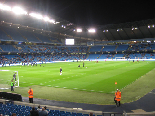 inside city of manchester stadium Carling Cup Adventures At Elland Road and Eastlands: Photos