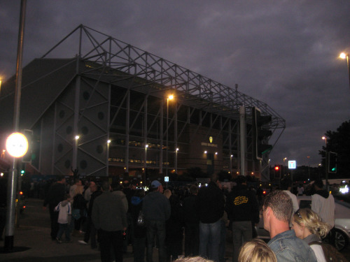 outside elland road Carling Cup Adventures At Elland Road and Eastlands: Photos