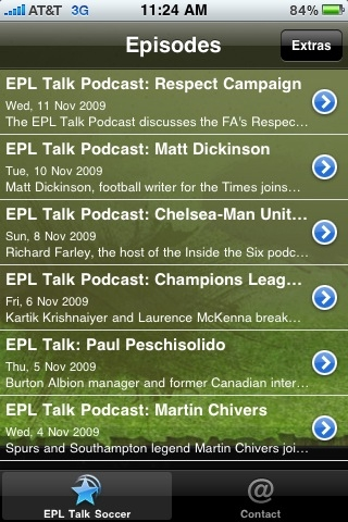 EPL screen shot First Look At The EPL Talk Podcast App