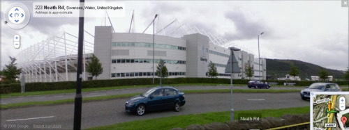 liberty stadium street view Memories Of Football Ground Spotting In The UK