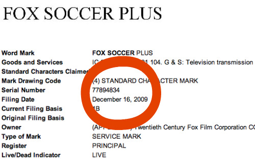 fox soccer plus trademark Fox's New Channel to Be Baptized Fox Soccer Plus?