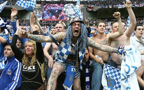 Portsmouth Fans at the FA Cup Final Portsmouth's Potential Demise Spells Trouble For Other Premier League Clubs