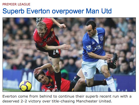 everton beat man united BBC Sport Erases Everton's Victory Against Man United