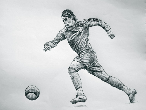 fernando torres ballpoint drawing small Drawings of Torres, Rooney and Adebayor