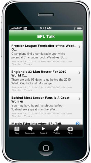 epl talk iphone app Get the New EPL Talk iPhone App