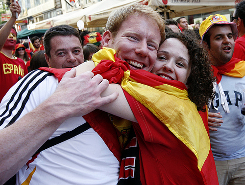 germany spain supporters Behind Most Soccer Fans Is A Great Woman