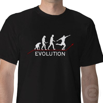 evolution zazzle Top 10 Football And Premier League Related T Shirts