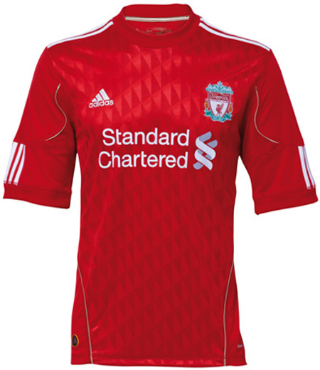 liverpool home shirt 2010 11 Liverpool Unveils New Home Shirt For 2010 12 Seasons