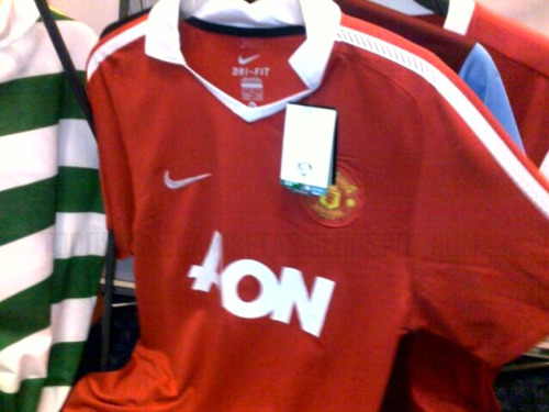 man united new home shirt Manchester United Home Shirt for 2010 11 Season: Photo