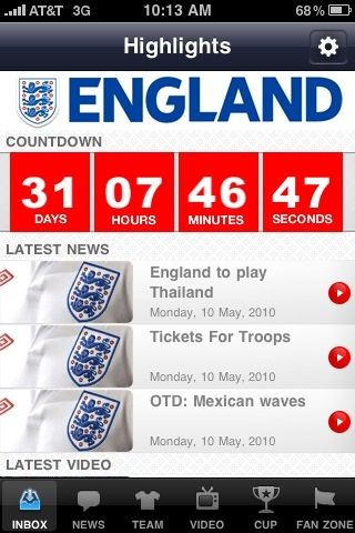 England App 2 EPL Talk Product Review: The Official England App