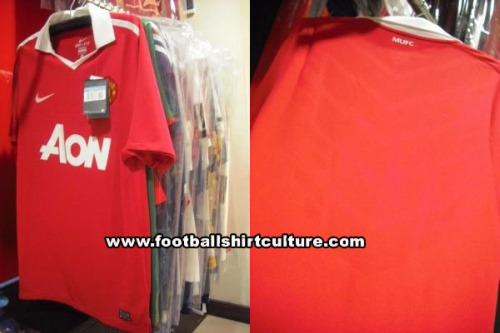 man united home shirt Manchester United Home Shirt for 2010 11 Season: New Photos