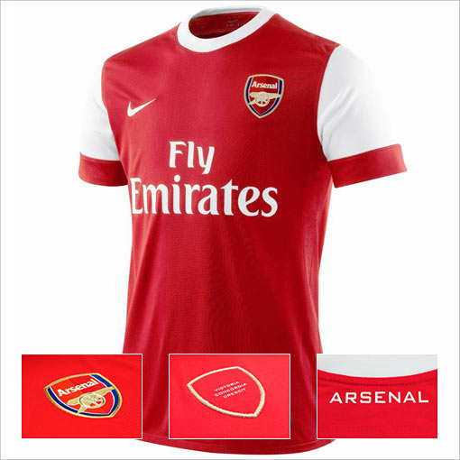 arsenal 1 Arsenal Launches 2010 11 Official Home Kit: Photos