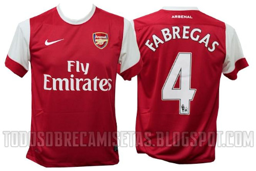 02333c4e49f Arsenal Home Jersey for 2010-11 Season  New Photos Released - World ...