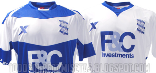 birmingham city football jerseys Birmingham City Home and Away Jerseys for 2010 11 Season: Photos