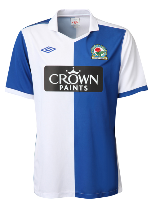 Blackburn rovers home jersey 2010 11 season photo world for Blackburn home