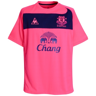 Everton today launched their new away shirt for the 2010-11 season. And  it s pink d47c2eed6