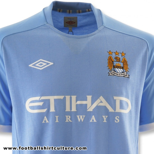 manchester city home shirt Manchester City Home Shirt for 2010 11 Season: Leaked Photo