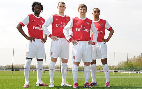 b74482a7eaa arsenal launches 2010-11 official home kit  photos - world soccer talk