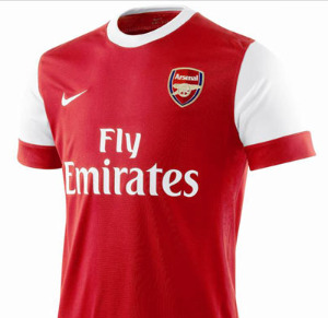 arsenal home shirt Best and Worst Premier League Shirt Designs of 2010 11 Season