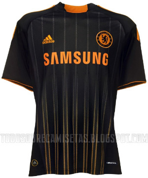 chelsea away shirt1 Best and Worst Premier League Shirt Designs of 2010 11 Season