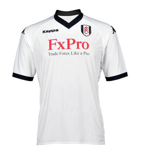 fulham home shirt front Fulham Launches New Home Jersey for 2010 11 Season: Photo