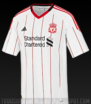 liverpool away shirt Best and Worst Premier League Shirt Designs of 2010 11 Season