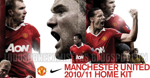 man united home shirt intro Man United Officially Launch New Home Kit for 2010 11 Season: Photos