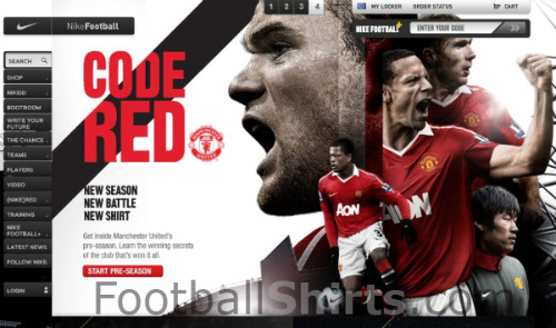 man united new shirt nike Man United Home Jersey for 2010 11 Season: New Leaked Photo