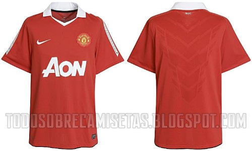 man united shirt front back Man United Officially Launch New Home Kit for 2010 11 Season: Photos