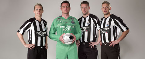 newcastle united home kit Newcastle United Launches Home 2010 11 Kit: Photos