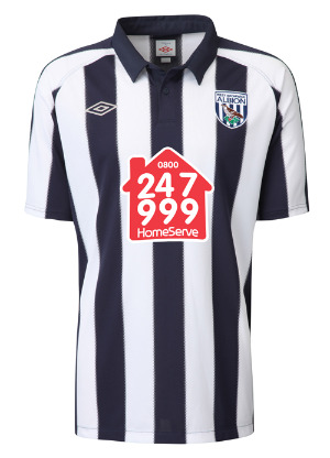 west brom home jersey1 Best and Worst Premier League Shirt Designs of 2010 11 Season