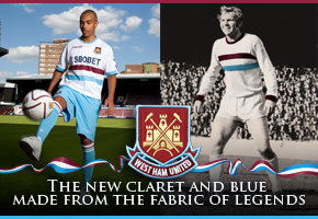 west ham away shirt past and present West Ham United Launch Away Shirt for 2010 11 Season