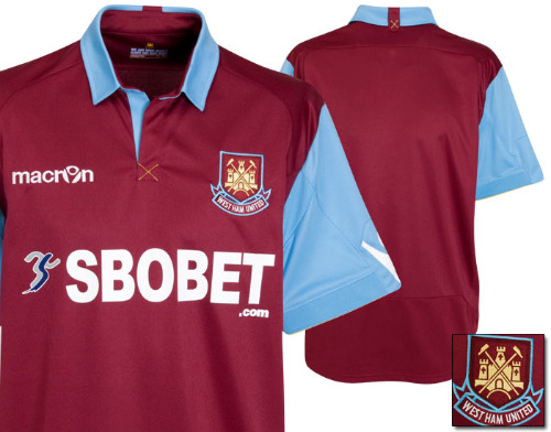 west ham united home shirt West Ham United Home Jersey for 2010 11 Season: Photo