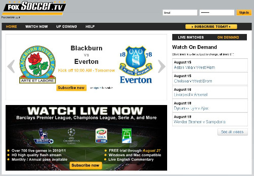foxsoccertv screenshot Falling In Love With Half Time of FoxSoccer.tv
