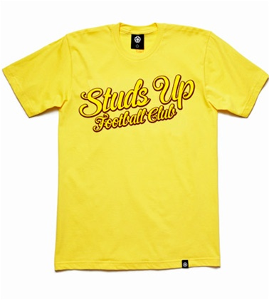 studs up yellow Studs Up Football Club T Shirt Collection: For Diehard Soccer Fans