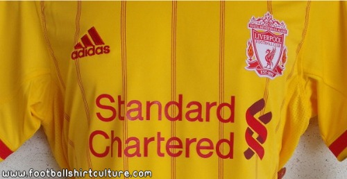 liverpool away shirt 2010 2011 2 Liverpool Away Shirt for 2011 2012 Season Revealed: Photos
