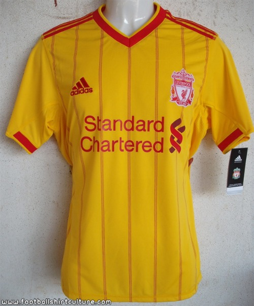 liverpool away shirt 2010 2011 Liverpool Away Shirt for 2011 2012 Season Revealed: Photos