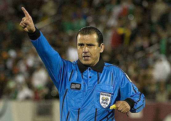 Referee Baldomero Toledo. Mexico defeated Bolivia 5-1 in an international friendly played at Dick's Sporting Goods Park, Commerce City, Colorado. March 11, 2009.