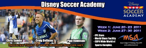 disney soccer academy banner Premier League Stars Coming To Disney Soccer Academy This Summer