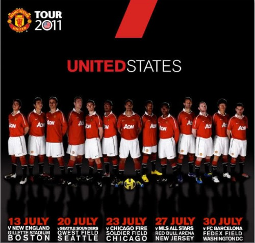 man united tour1 Ticket Details for Seattle Sounders vs Manchester United Announced
