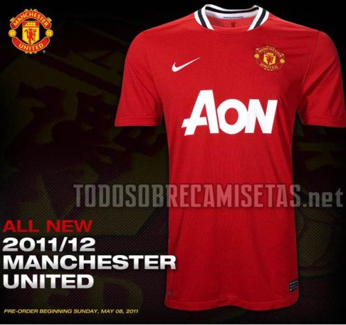 manchester united home shirt Manchester United Home Shirt for 2011 12 Season: Official Photo