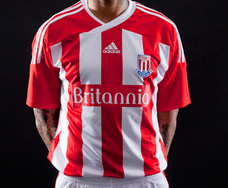 stoke city home shirt1 Stoke City Home Shirt for 2011 12 Season: Official Photo