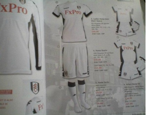 fulham home shirt11 Fulham Home Shirt for 2011 12 Season: Leaked Photo