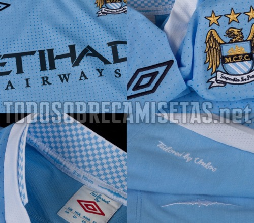man city home shirt 21 Manchester City Home Shirt for 2011 2012 Season: Video and New Photos