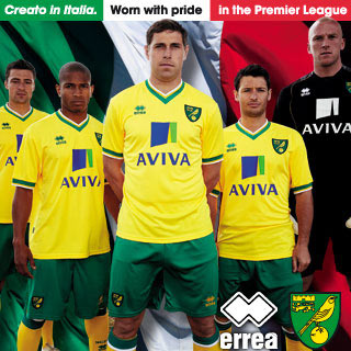 norwich city home shirt2 Norwich City Home Shirt for 2011 12 Season: Photo