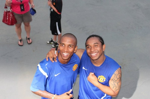 ashley young anderson1 Manchester United 2011 US Tour: In Pictures