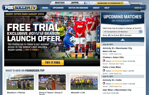 foxsoccer tv website preview1 FOXSoccer 2Go for iPad: Exclusive Video Preview