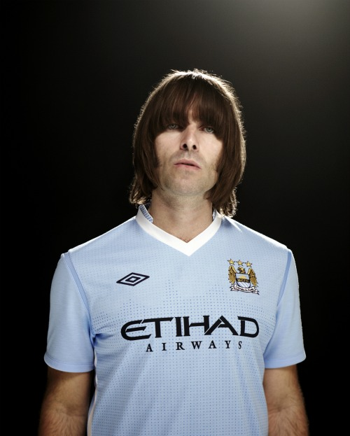 683b28bfb91 Liam Gallagher of Oasis Launches Manchester City Home Shirt for 2011 ...